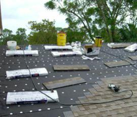 roof repair daily clean up
